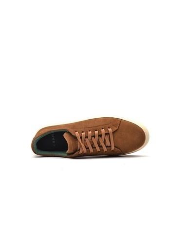 Krähe Corbeau Camel Süet Minimal Sneaker Camel